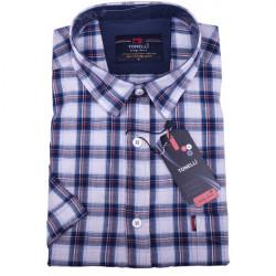 Modrá pánská košile 100 % bavlna Tonelli110812