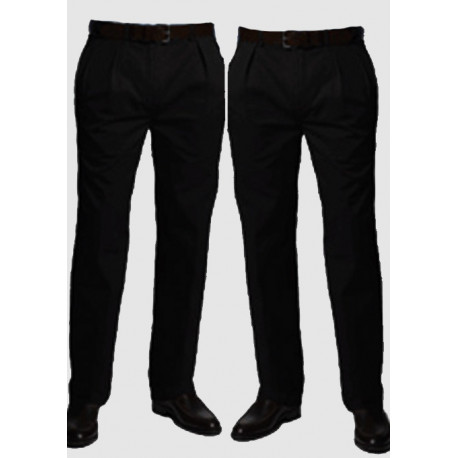 Černé prodloužené pánské kalhoty společenské na výšku 182 – 188 cm Falkom 160102