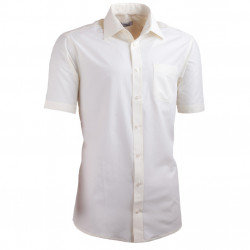 Šampaň pánská košile slim fit s krátkým rukávem Aramgad 40233