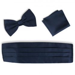 Modrý frakový pás - šerpa set Assante 90415