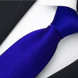 Jednobarevná modrá pánská kravata René Chagal 99945