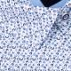 Bílá s modrým vzorem pánská košile slim fit Brighton 109908