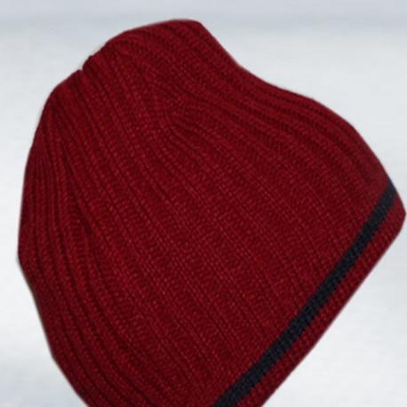 Červená pánská pletená čepice Pletex 86018