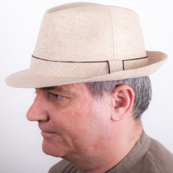 Béžový pánský letnní klobouk Mes 81022