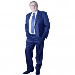 Modrý pánský oblek zkrácený na výšku 170 - 176 cm Galant 160615