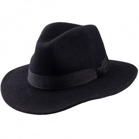 Elegantní černý pánský klobouk Assante 85030