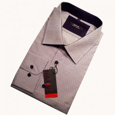 e777f0a7245 Šedá nadměrná pánská košile rovná Assante 31022