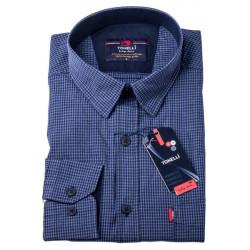 Modromodrá košile 100 % bavlna Tonelli 110955