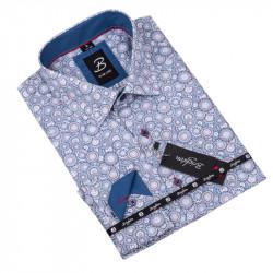 Vzorovaná košile Brighton bílomodrá 109916