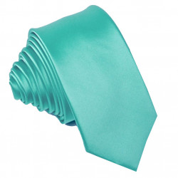Tyrkysová svatební kravata slim Greg 99191