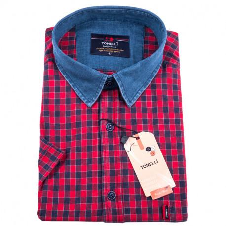 Červenomodrá nadměrná košile Tonelli 110845