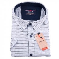 Modromodrá nadměrná košile Tonelli 110846