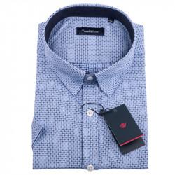 Bílomodrá nadměrná košile Tonelli 110847