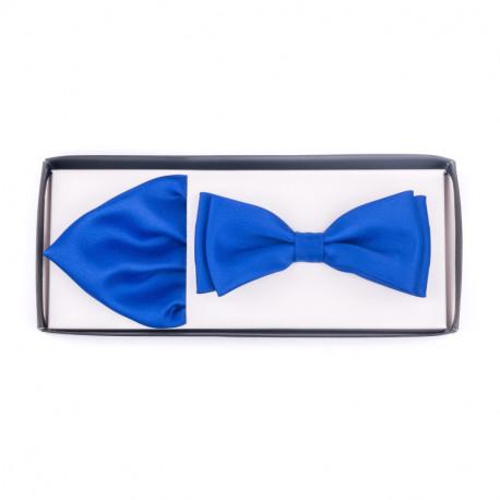 Pánský motýlek barva středně modrá Assante 90231