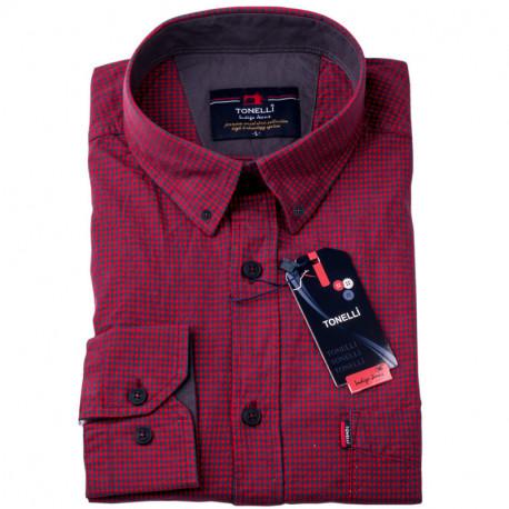 Červenomodrá kostka košile Tonelli 110974