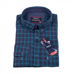 Modro modrá košile Tonelli 110975