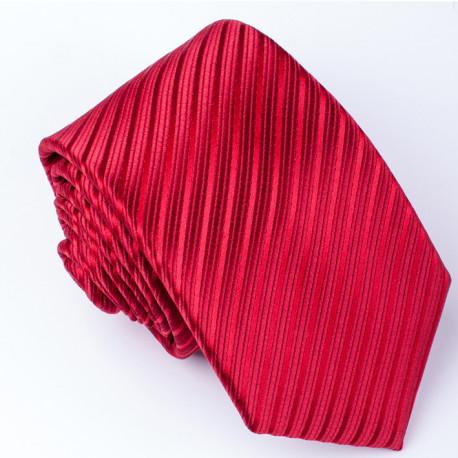 Červená kravata slim Rene Chagal 93180