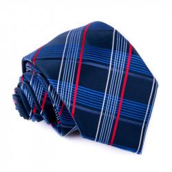 Kravata modré káro Greg 94952