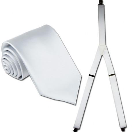 Kšandy a kravata bílá souprava Assante 502