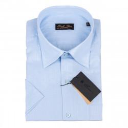 Pánská košile modrá krátký rukáv Tonelli 110823