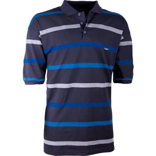 Pruhovaná tmavě modrá polokošile